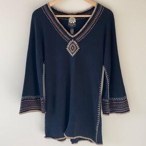 Lucky Brand bell-sleeve knit tunic